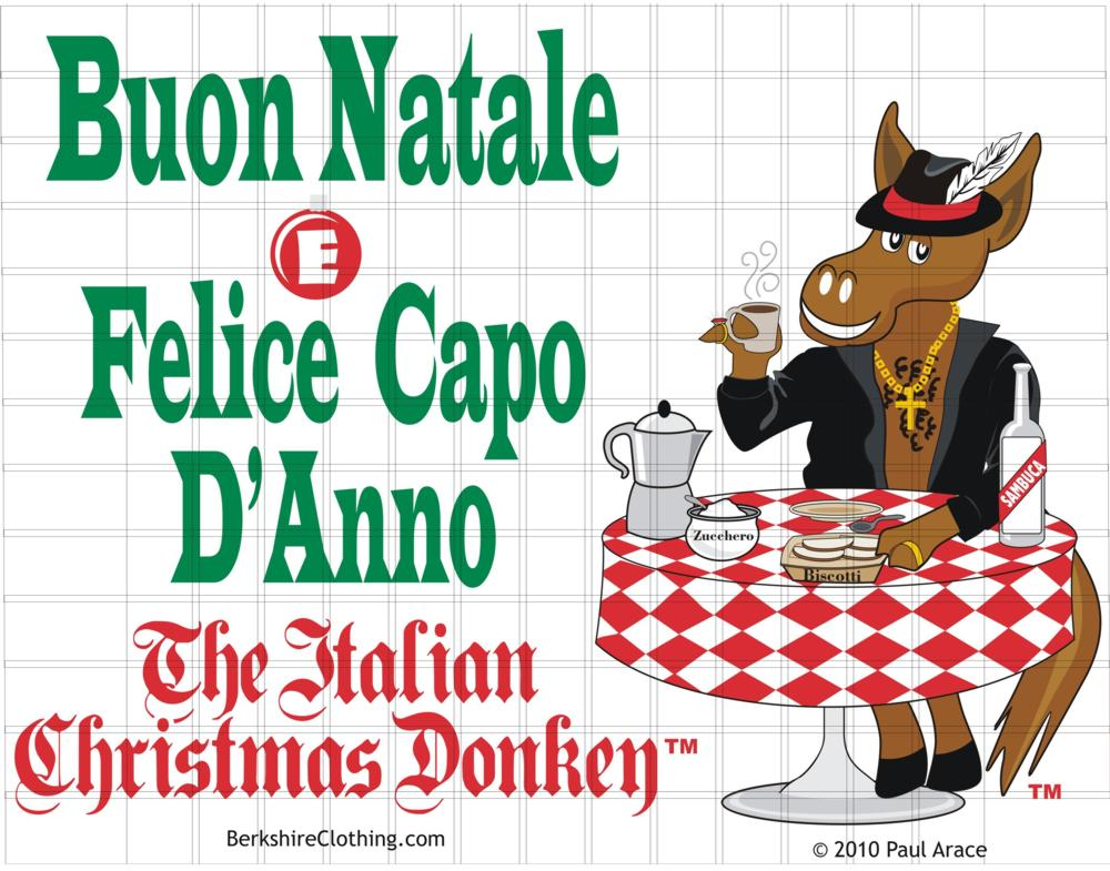 bars have been added to help protect copyright bars do not appear on the printed shirt - The Italian Christmas Donkey
